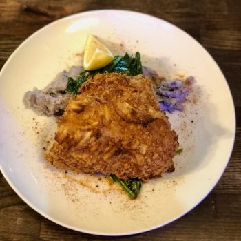 Potato crusted john dory